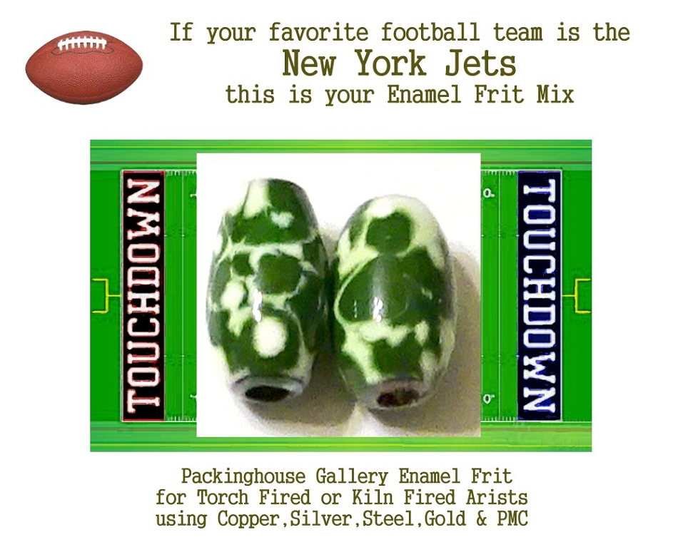 New York Jets Football, Enamel Glass Frit, Football Team Colors, Football Spirit and Pride,  Football Jewlery and Gifts