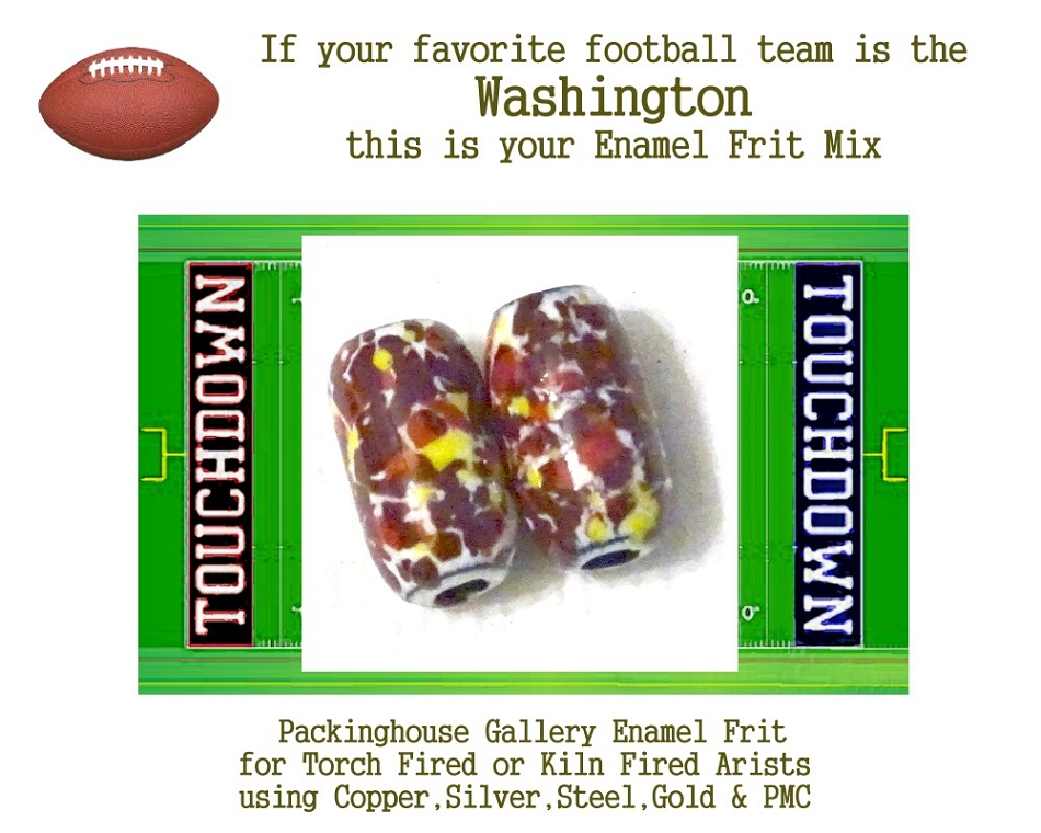 Washington Redskins Football, Enamel Glass Frit, Football Team Colors, Football Spirit and Pride,  Football Jewlery and Gifts