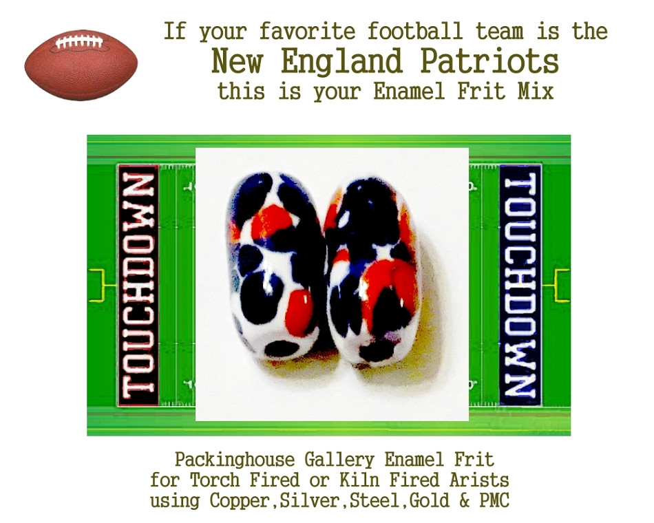 New England Patriots Football, Enamel Glass Frit, Football Team Colors, Football Spirit and Pride,  Football Jewlery and Gifts