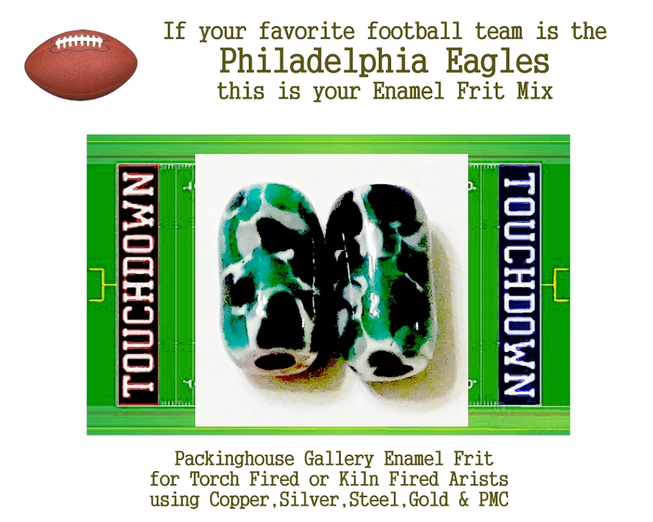 Philadelphia Eagles Football, Enamel Glass Frit, Football Team Colors, Football Spirit and Pride,  Football Jewlery and Gifts
