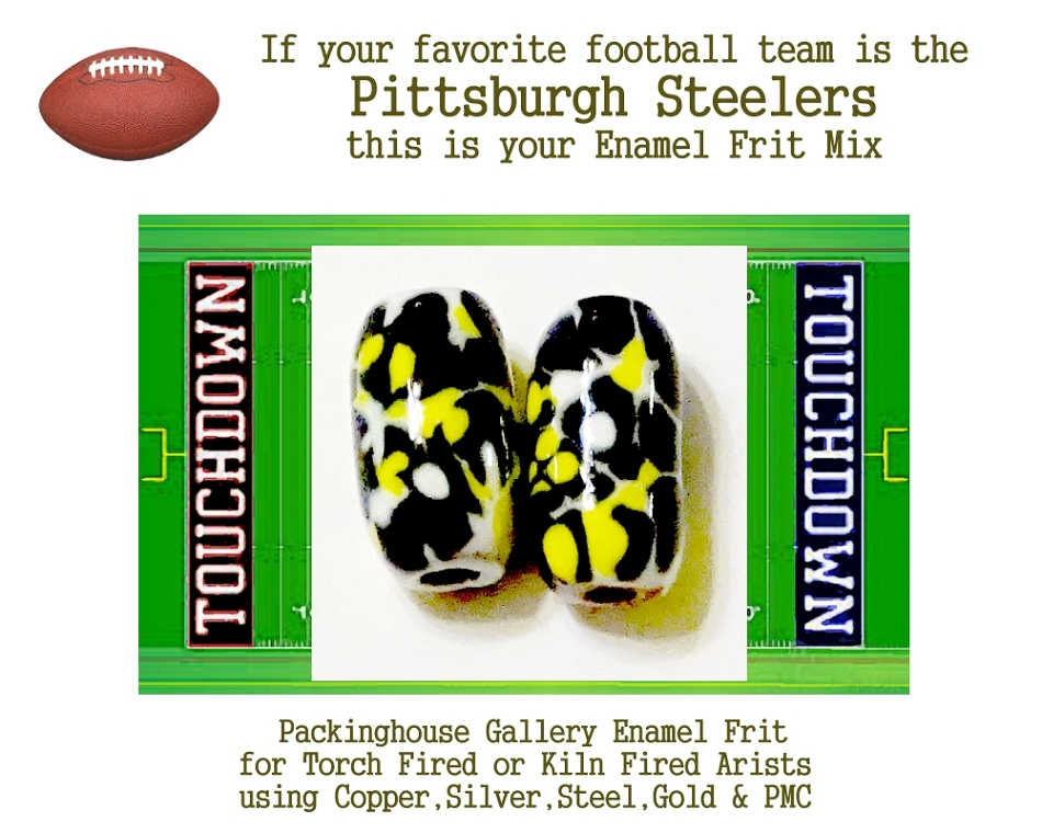 Pittsburgh Steelers Football, Enamel Glass Frit, Football Team Colors, Football Spirit and Pride,  Football Jewlery and Gifts