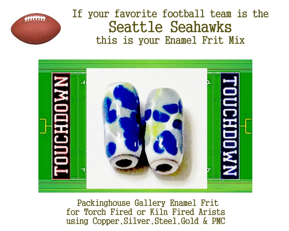 Seattle Seahawks Football, Enamel Glass Frit, Football Team Colors, Football Spirit and Pride,  Football Jewlery and Gifts