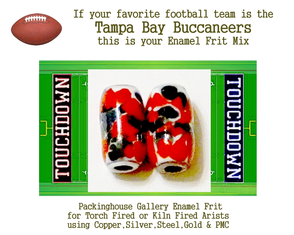 Tampa Bay Buccaneers Football, Enamel Glass Frit, Football Team Colors, Football Spirit and Pride,  Football Jewlery and Gifts