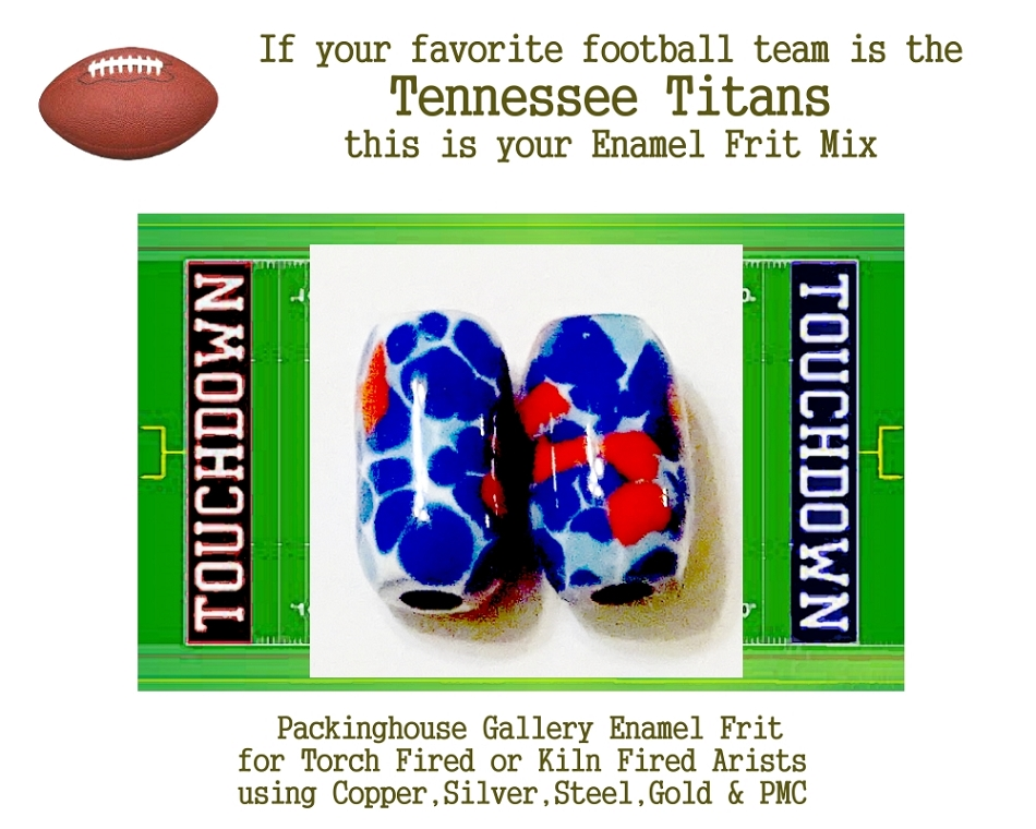 Tennessee Titans Football, Enamel Glass Frit, Football Team Colors, Football Spirit and Pride,  Football Jewlery and Gifts