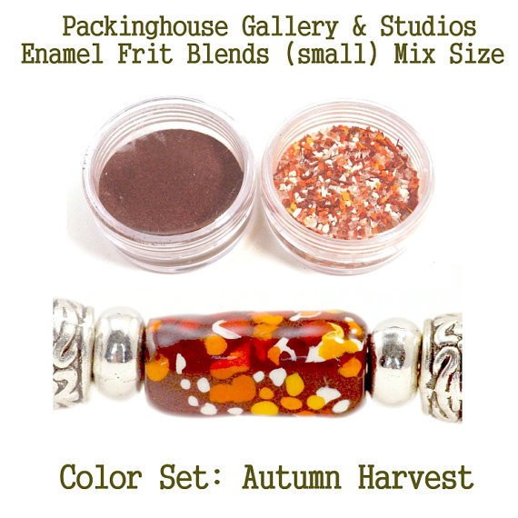 Autumn Harvest Color Enamel Frit Blends for Torch Fired Copper Enamel Beads for Artists, Metalsmiths & Enamelist Color:  Autumn Harvest