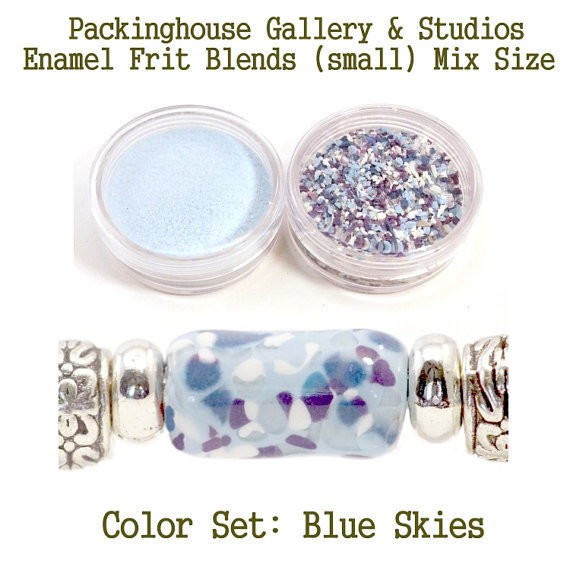 Blue Skys Color Enamel Frit Blends for Torch Fired Copper Enamel Beads for Artists, Metalsmiths & Enamelist Color: Blue Skies
