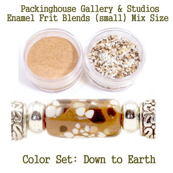 Down to Earth Color Enamel Frit Blends for Torch Fired Copper Enamel Beads for Artists, Metalsmiths & Enamelist Color: Down to Earth