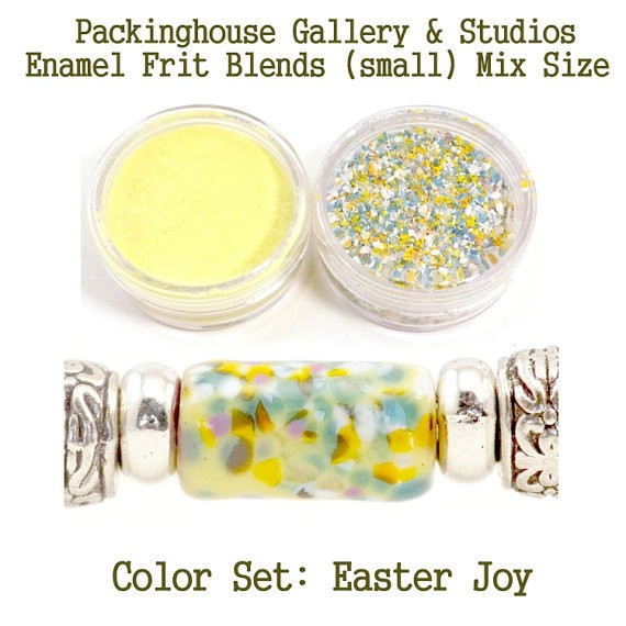 Easter Joy Color Enamel Frit Blends for Torch Fired Copper Enamel Beads for Artists, Metalsmiths & Enamelist Color: Easter Joy