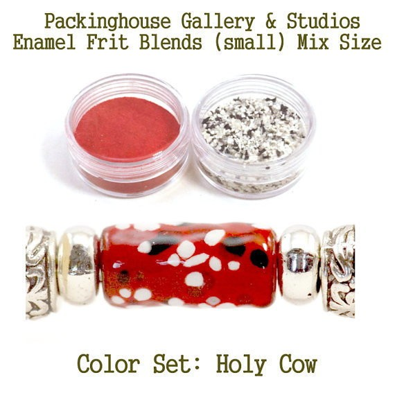 Holy Cow Small Enamel Frit Blends for Torch Fired Copper Enamel Beads for Artists, Metalsmiths & Enamelist  Color Blend: Holy Cow