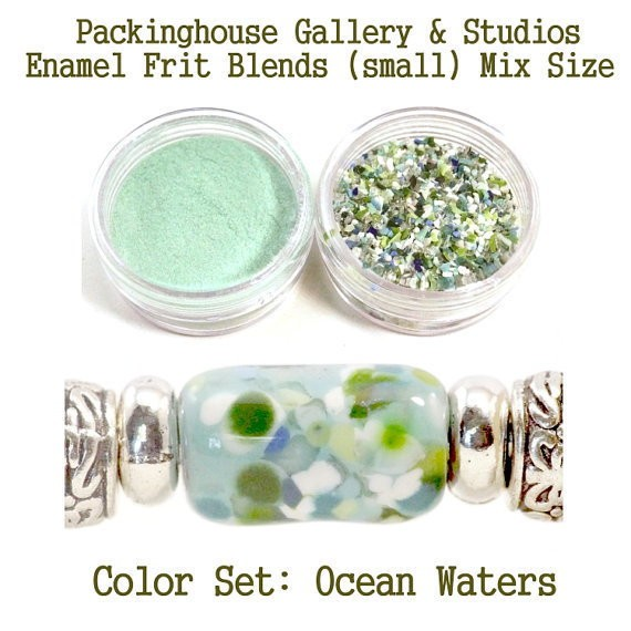 Ocean Waters Color Enamel Frit Blends for Torch Fired Copper Enamel Beads for Artists, Metalsmiths & Enamelist Color: Ocean Waters