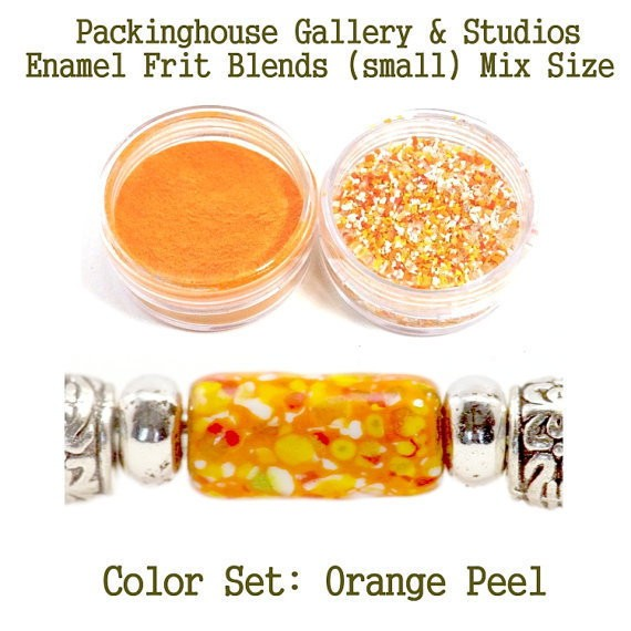 Orange Peel Color Enamel Frit Blends for Torch Fired Copper Enamel Beads for Artists, Metalsmiths & Enamelist Color: Orange Peel