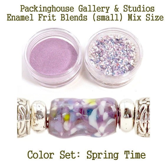 Spring Time Color Enamel Frit Blends for Torch Fired Copper Enamel Beads for Artists, Metalsmiths & Enamelist Color: Spring Time