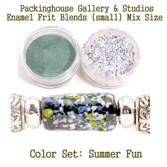Summer Fun Color Enamel Frit Blends for Torch Fired Copper Enamel Beads for Artists, Metalsmiths & Enamelist Color: Summer Fun