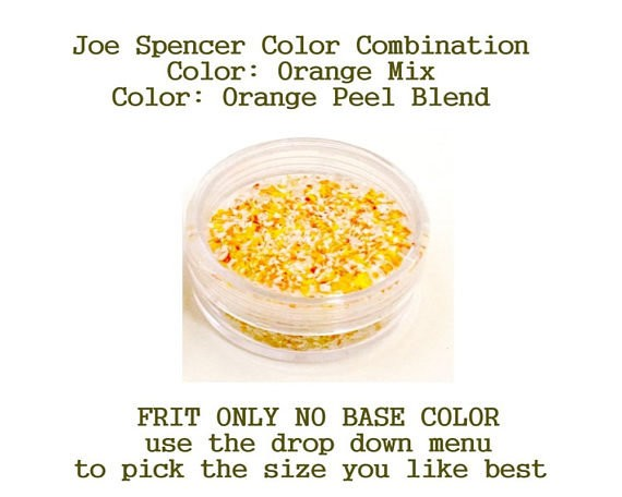 Orange Mix or Orange Peel Blend Enamel Glass Frit (Frit Only - No Base Color) by Joe Spencer pick the size you like with dropdown menu