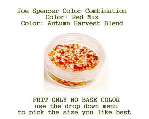 Red Mix or Autumn Harvest Blend Enamel Glass Frit (Frit Only - No Base Color) by Joe Spencer pick the size you like with dropdown menu