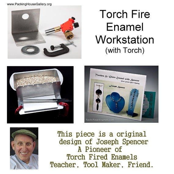 Torch Fired Enamel Workstation with Push Button Start Torch made by Joe Spencer