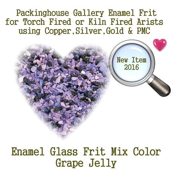 Grape Jelly, 2 oz. Enamel Glass Frit for Copper, Gold, Silver and PMC artists using torch fired or kiln fired processes to make beads