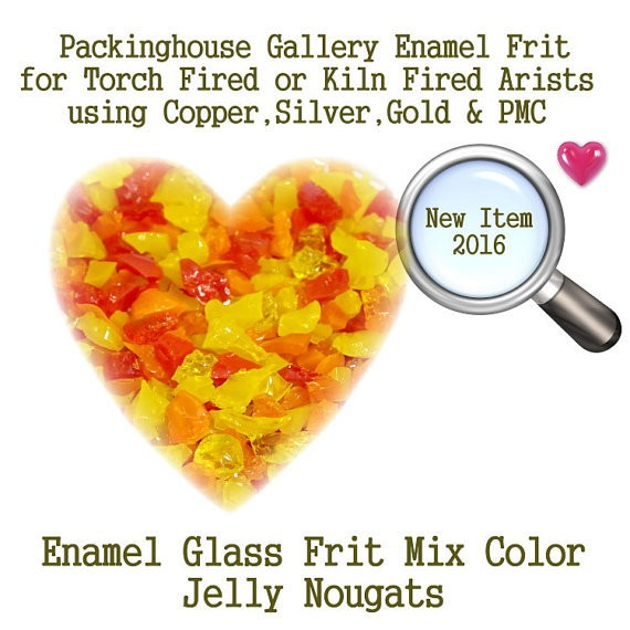 Jelly Nougat, 2 oz. Enamel Glass Frit for Copper, Gold, Silver and PMC artists using torch fired or kiln fired processes to make beads