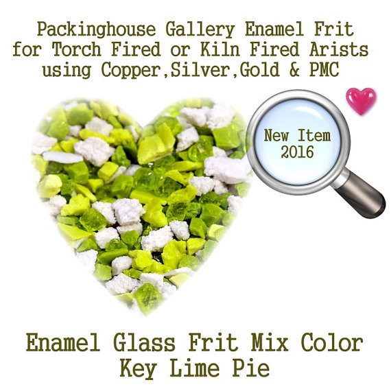 Key Lime Pie, 2 oz. Enamel Glass Frit for Copper, Gold, Silver and PMC artists using torch fired or kiln fired processes to make beads