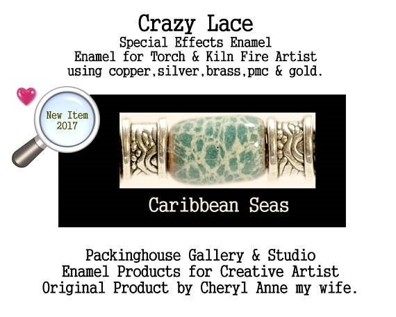 Caribbean Seas Special Effects Enamel by Cheryl Anne, Enamel Mix, for Copper, Gold, Silver, PMC. Enamel, Packinghouse Gallery