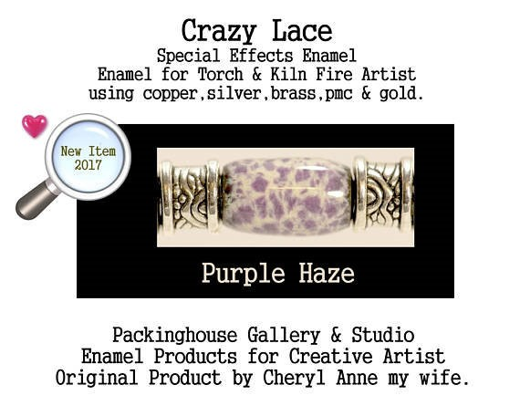 Purple Haze Special Effects Enamel by Cheryl Anne, Enamel Mix, for Copper, Gold, Silver, PMC. Enamel, Packinghouse Gallery