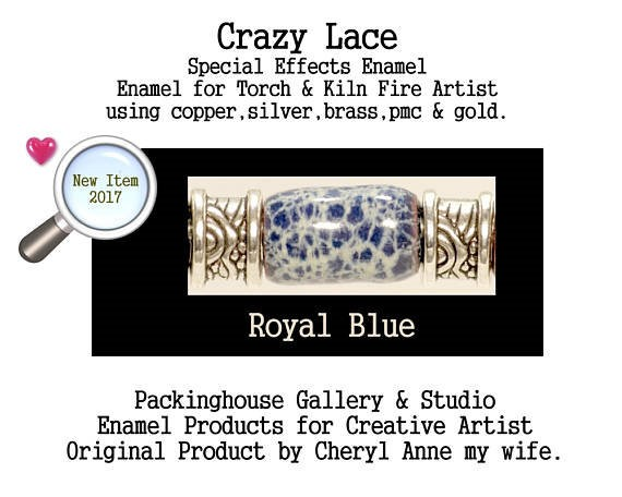 Royal Blue Special Effects Enamel by Cheryl Anne, Enamel Mix, for Copper, Gold, Silver, PMC. Enamel, Packinghouse Gallery