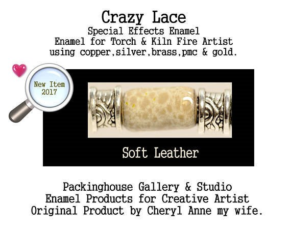 Soft Leather Special Effects Enamel by Cheryl Anne, Enamel Mix, for Copper, Gold, Silver, PMC. Enamel, Packinghouse Gallery