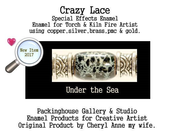 Under the Sea Special Effects Enamel by Cheryl Anne, Enamel Mix, for Copper, Gold, Silver, PMC. Enamel, Packinghouse Gallery