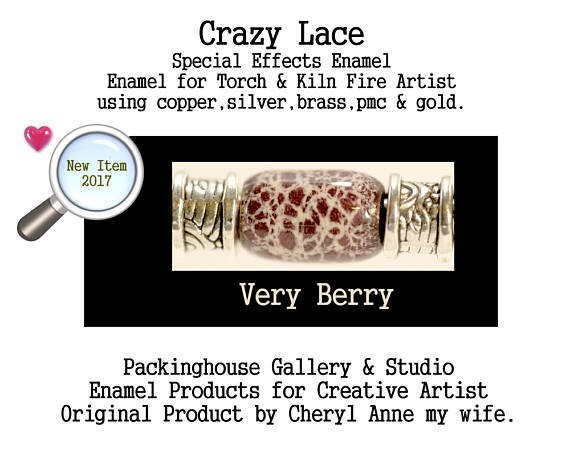 Very Berry Special Effects Enamel by Cheryl Anne, Enamel Mix, for Copper, Gold, Silver, PMC. Enamel, Packinghouse Gallery