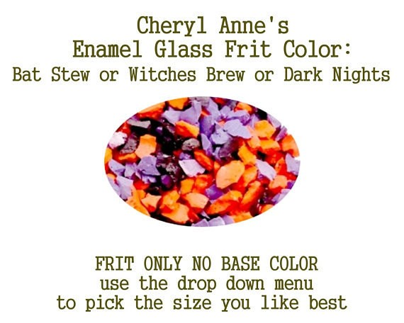 Halloween Bat Stew or Witches Brew or Dark Nights, No White Enamel, Enamel Glass Frit (Frit Only no Base Color) Enamel Frit for Artist