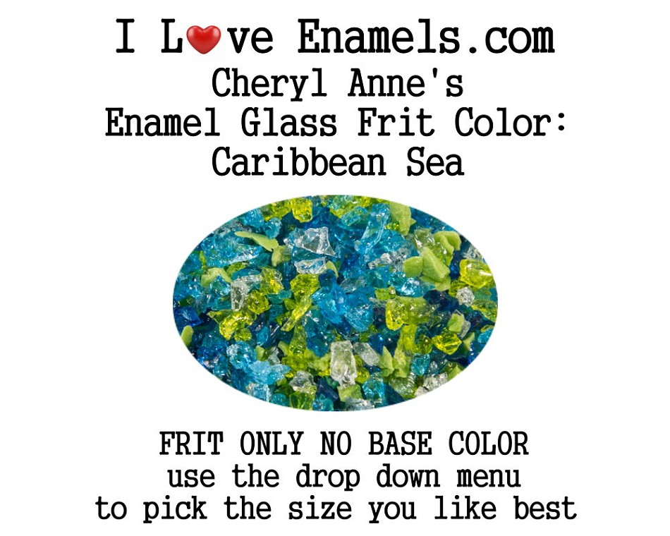 Caribbean Sea, Enamel Glass Frit (Frit Only no Base Color) Enamel Frit for Artist using torches or kilns by Cheryl Anne