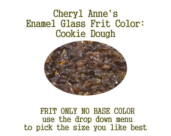 Cookie Dough, Enamel Glass Frit (Frit Only no Base Color) Enamel Frit for Artist using torches or kilns by Cheryl Anne