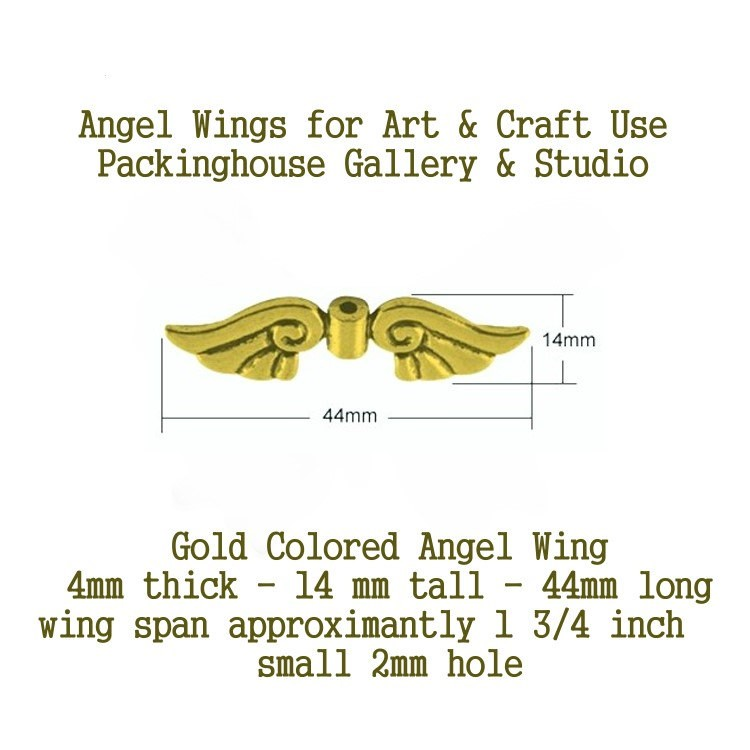Gold Colored Angel Wing (Large Size) for Christmas Angels, Spiritual ...