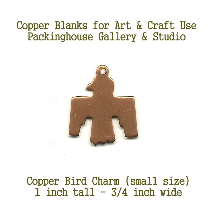 Thunder Bird Charm Small Size, copper blank metal cut out made of copper for metal working, enameling and jewerly making