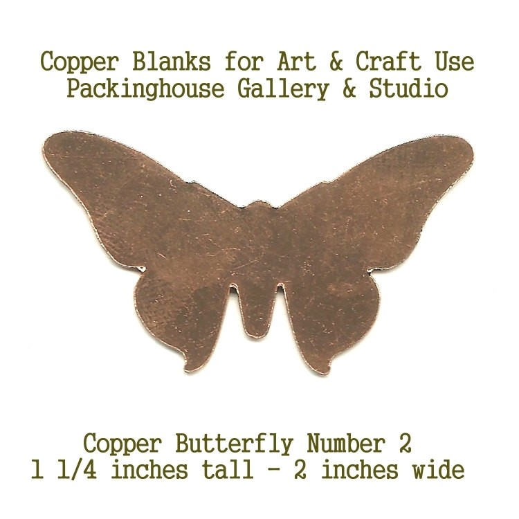 Copper, Butterfly #2, metal Blank, Shape cut outs made of copper for metal working, enameling and jewerly making