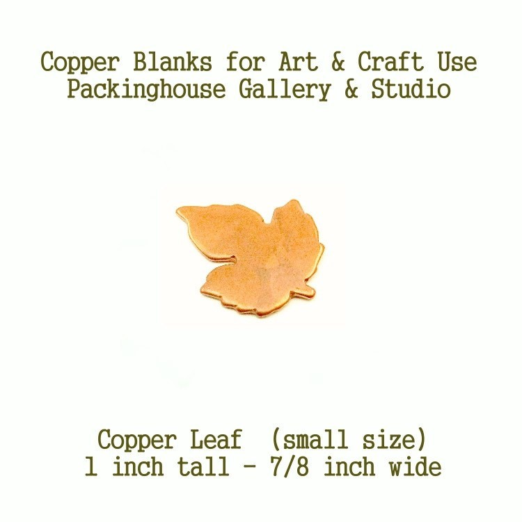 Maple Leaf  (small size) Copper Blank made of copper for metal working, enameling, metalworking, leathermaking and jewerly making