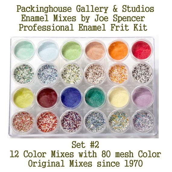 Professional Enamel Frit BLENDS Kits, LARGE SIZE FRIT (with color base) Enamel Glass Bead Frits, Original Enamel Mixes by Joe Spencer