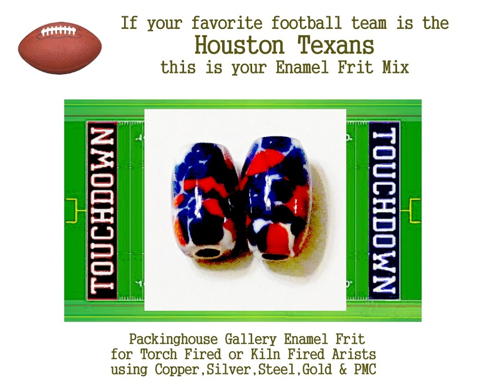 Houston Texans Football, Enamel Glass Frit, Football Team Colors, Football Spirit and Pride,  Football Jewlery and Gifts