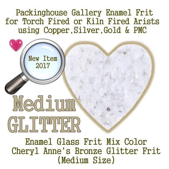 Bronze Enamel Glitter Frit, Medium Size Glitter, Enamel Frit, Glass Frit, for Copper, Gold, Silver, Steel,PMC. Packinghouse Gallery