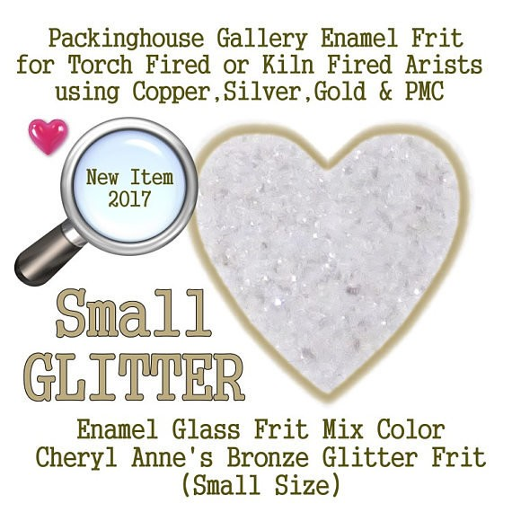 Bronze Enamel Glitter Frit, Small Size Glitter, Enamel Frit, Glass Frit, for Copper, Gold, Silver, Steel,PMC. Packinghouse Gallery