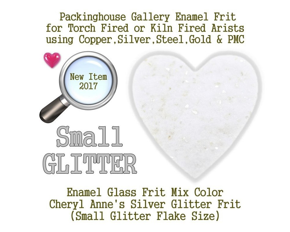 Silver Enamel Glitter Frit, Small Size Frit, Enamel Frit, Glass Frit, for Copper, Gold, Silver, PMC. Thompson Enamel, Packinghouse Gallery