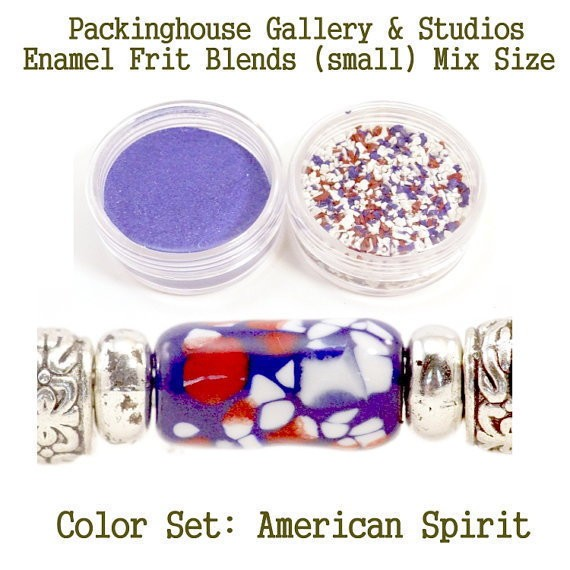 All American Color Enamel Frit Blends for Torch Fired Copper Enamel Beads for Artists, Metalsmiths & Enamelist Color: American Spirit