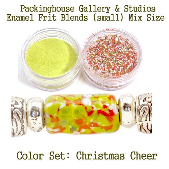 Christmas Cheer Color Enamel Frit Blends for Torch Fired Copper Enamel Beads for Artists, Metalsmiths & Enamelist Color: Christmas Cheer