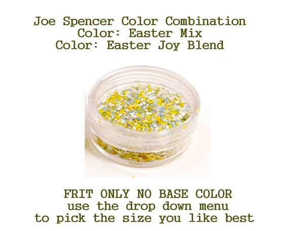 Easter Mix or Easter Joy Blend  Enamel Glass Frit (Frit Only - No Base Color) by Joe Spencer pick the size you like with dropdown menu