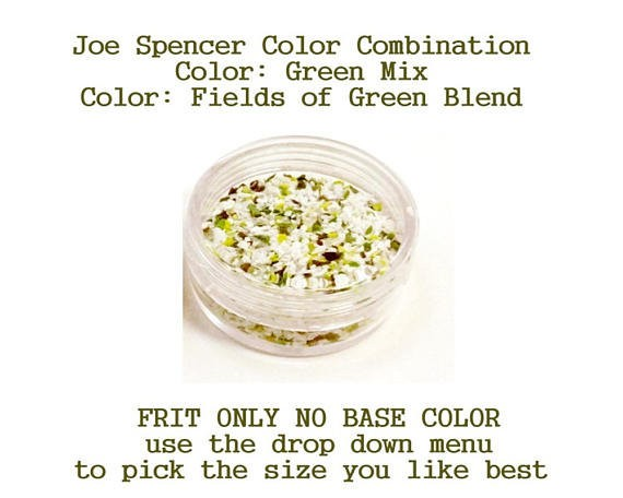 Green Mix or Fields of Green Blend  Enamel Glass Frit (Frit Only - No Base Color) by Joe Spencer pick the size you like with dropdown menu