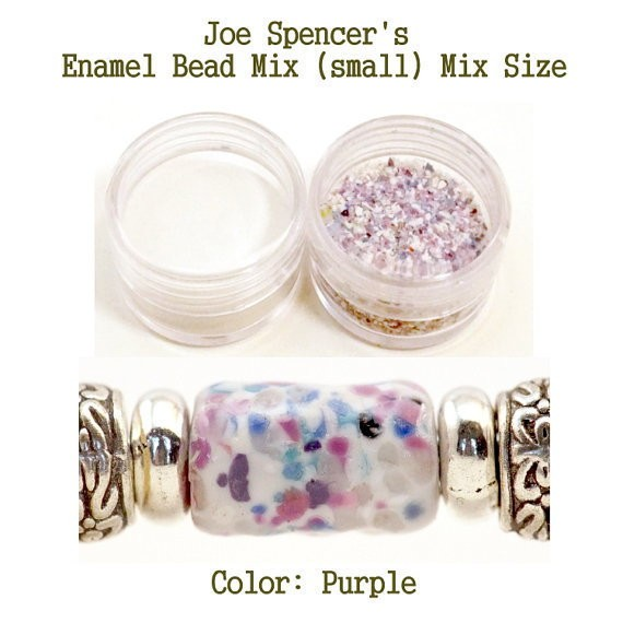 Purple Color Enamel Bead Frit with Base by Joe Spencer for Torch Fired Copper Enamel Bead Artists, Metalsmiths & Enamelist Purple Mix